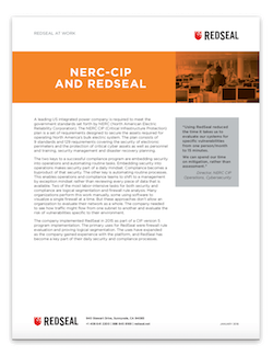 NERC-CIP and RedSeal